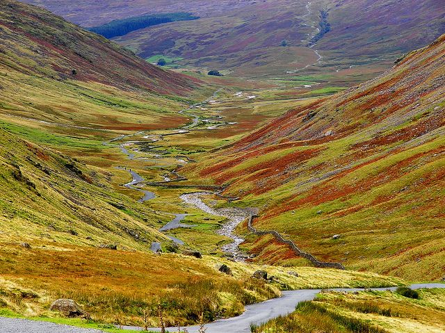 Hardknott pass over irrigated road tours car lovers