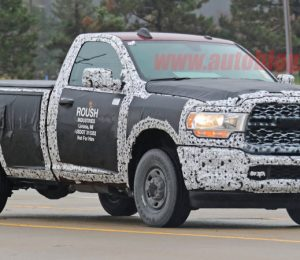 2020 Ram 2500 spy photos have been identified as lighting, grille