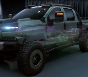Chevrolet Silverado ZH2 is a fuel cell concept concept for military