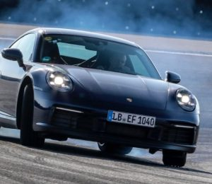 Here is the Porsche 992 generation 911 test mule official photos