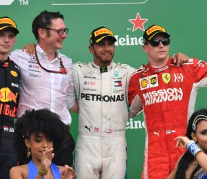 Luis Hamilton wins in Brazil as the fifth F1 title of Mercedes