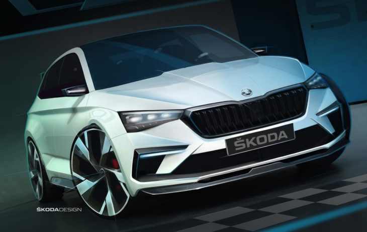 VISION RS sketch on 01 730x461 Skoda Vision RS revealed in official sketches