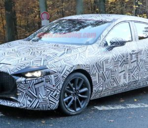 The new Mazda3 spied inside and outside the front L.A. Auto Show Detect