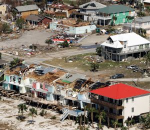 The towns cause hurricanes to dump extra rain on them