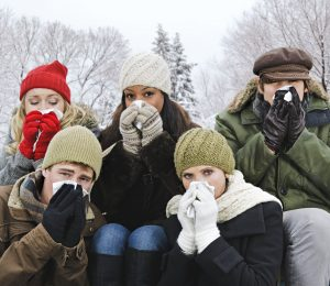 Why are people more likely to be sick or die during the winter months?