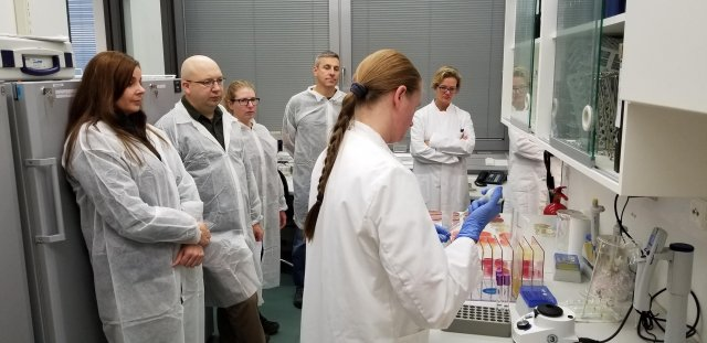 The Bundeswehr showcases their microbiological laboratory at the Bundeswehr Hospital in Berlin, for the European staff of the Public Health Command.